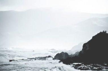 Hills in the ocean